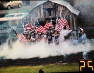 Football teams in Georgia, Tennessee take field with American flags