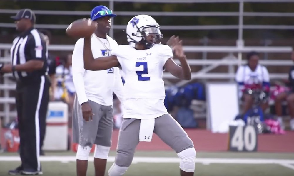 Trinity Christian quarterback Shedeur Sanders (Photo: @overtime/Twitter)