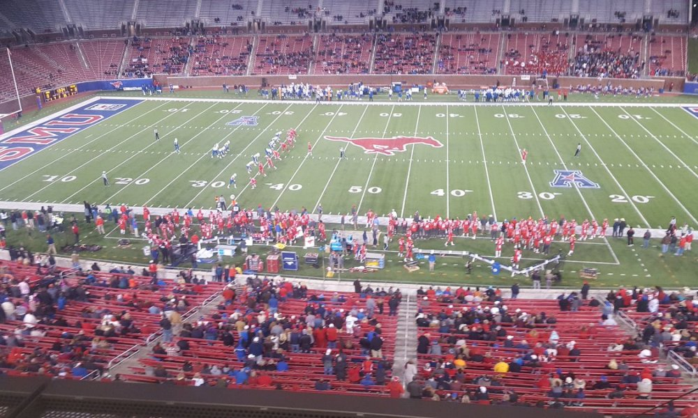 The SMU crowd on a Friday night (Photo: @AdamGrosbard/Twitter)