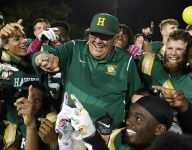 Mich. football coach John Herrington now No. 1 on state's all-time wins list