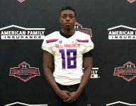 One of the top running backs in Texas, Maurice Washington, receives Under Armour All-America Game jersey