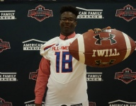 Richard Gouraige excited to receive his Under Armour All-America jersey