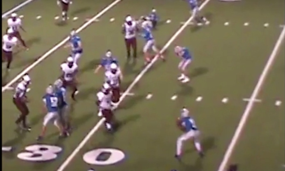 Monticello Junior High completed an incredible trick play touchdown (Photo: Hudl screen shot)