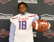 Miami-bound Delone Scaife receives Under Armour All-America jersey