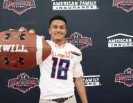 Alontae Taylor receives Under Armour All-America Game jersey
