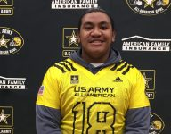 Four-star Utah OT Penei Sewell gets emotional when receiving U.S. Army All-American jersey while out injured