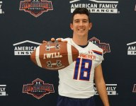 Notre Dame commit Jack Lamb receives Under Armour All-America jersey