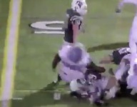 VIDEO: This play from a Michigan playoff football game is as dirty as any you'll ever see