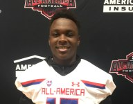 Four-star Ohio State LB commit Teradja Mitchell celebrates Under Armour All-American selection