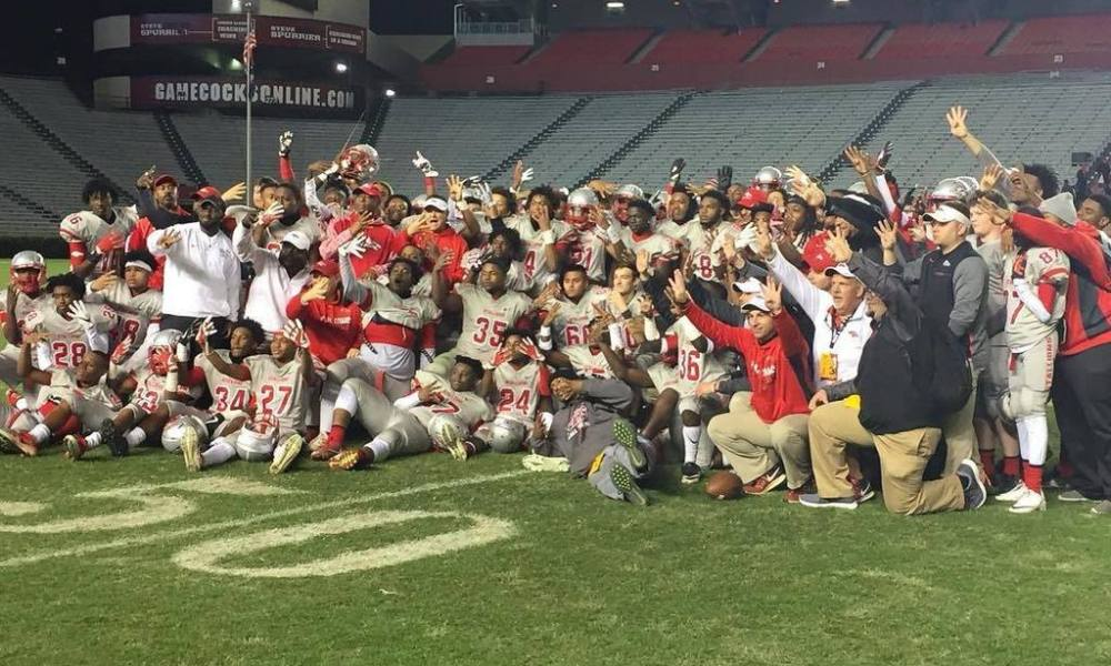 South Pointe celebrates its fourth-straight state title (Photo: @RockHillSchools/Twitter)