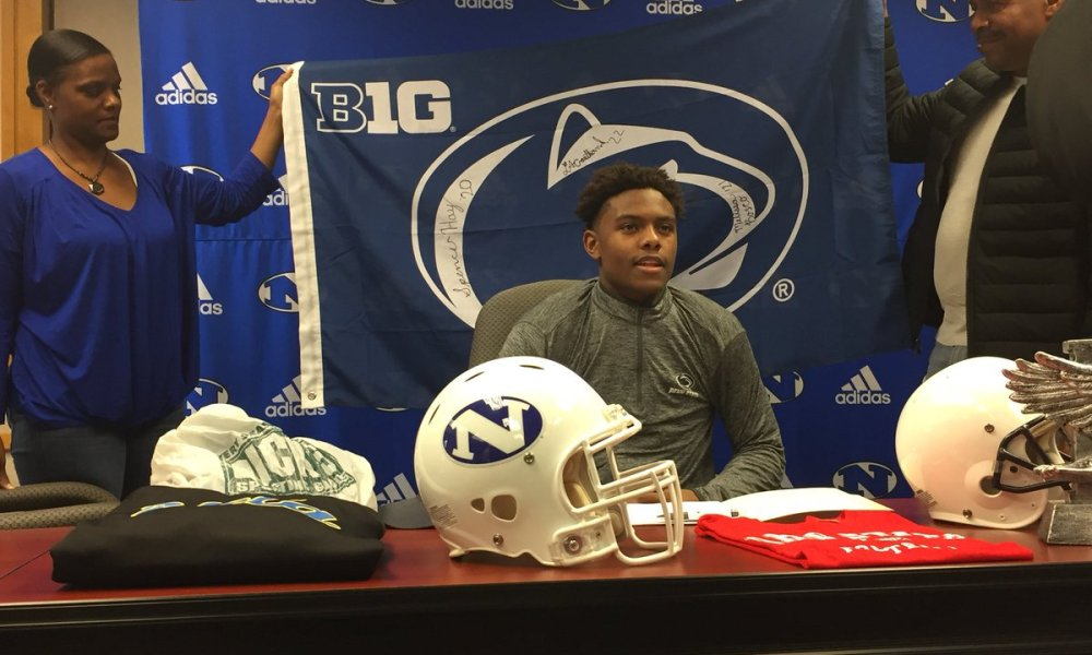 Jahan Dotson committed to Penn State (Photo: @TheRealACarr/Twitter screen shot)