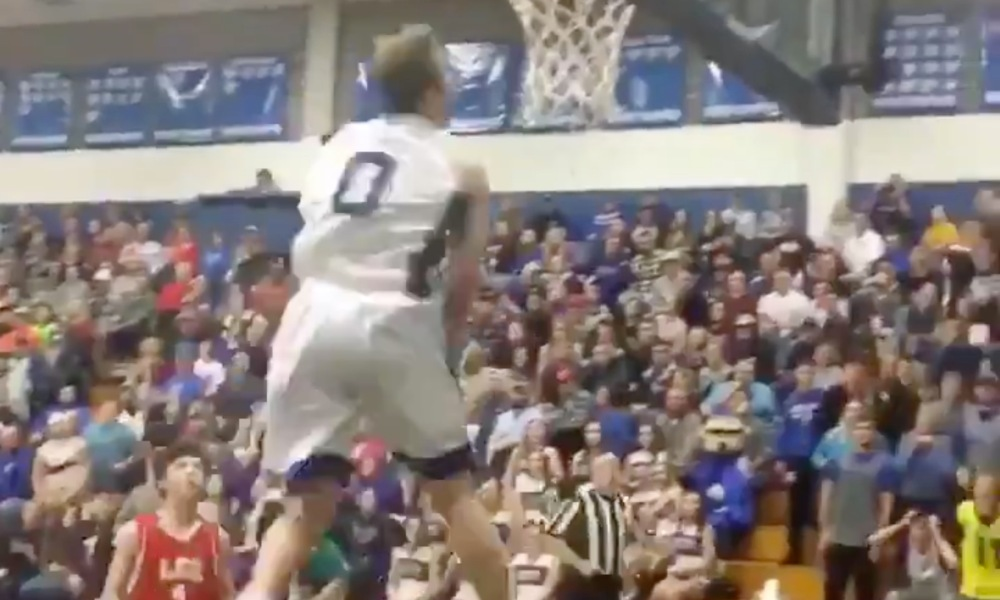 Mac McClung throws down a reverse dunk for Gate City (Photo: @overtime/Twitter)