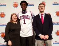 Simi Shittu proud to receive his McDonald's All American jersey and represent Canada