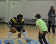 VIDEO: They're football players, but Army Bowl stars sure can dominate little kids in basketball