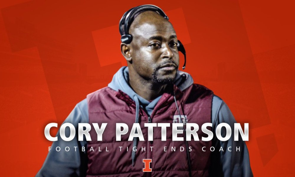 St. Louis Trinity Catholic football coach Cory Patterson became the latest to jump to the collegiate ranks (Photo: @IlliniFootball/Twitter screen shot)