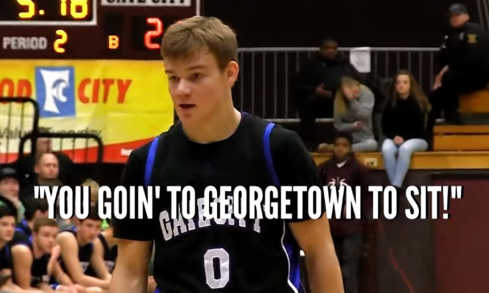 Georgetown commit Mac McClung scored 44 points after being taunted by an opposing coach (Photo: YouTube screen shot)