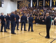 California rivals honor Thomas Fire first responders