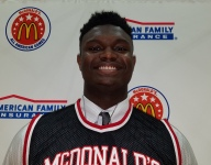 Zion Williamson, looking for a third consecutive state title, gets his McDonald's All American jersey
