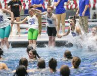 Carmel extends national record with 32nd-straight swimming state title