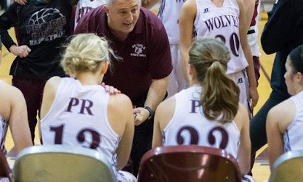 Prairie Ridge girls basketball coach Rick Lima (Photo: @nwherald/Twitter screen shot)