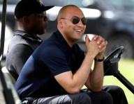 Derek Jeter meets with Stoneman Douglas baseball and softball teams