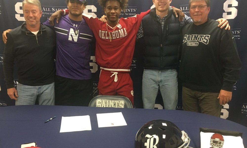All Saints early period football signees (Photo: asesftw_athlete/Twitter screen shot)