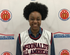 McDonald's All American jersey in hand, Christyn Williams looks for a state title
