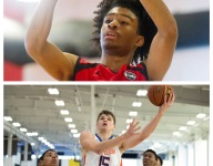 Duke commit Joey Baker and North Carolina signee Coby White battle a week before the rivalry is renewed