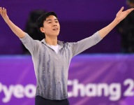 17-year-old Vincent Zhou, youngest U.S. Olympian, nails first ever Olympic quadruple lutz