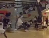 Watch Belleville (Mich.) teammates complete between-the-legs, off-backboard dunk alley oop