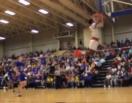 Chandler Lindsey jumped so high he almost hit his head on the rim