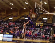 VIDEO: Scary moment as player in Kansas shoved into basket stanchion mid-dunk