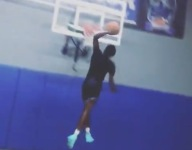 VIDEO: Dwyane Wade's son Zaire throws down dunks at end of ball-handling workouts now