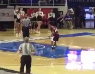 VIDEO: Fulton (Tenn.) star Edward Lacy celebrates with imaginary teammates after technical free throw