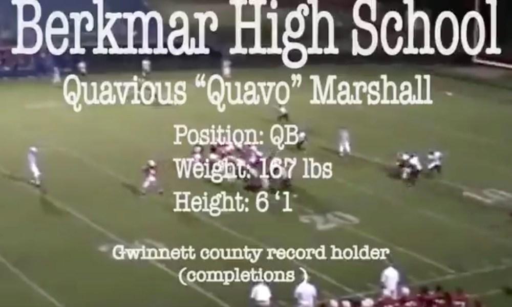 Quavo's high school highlight reel (Photo: @QuavoStuntin/Twitter screen shot)