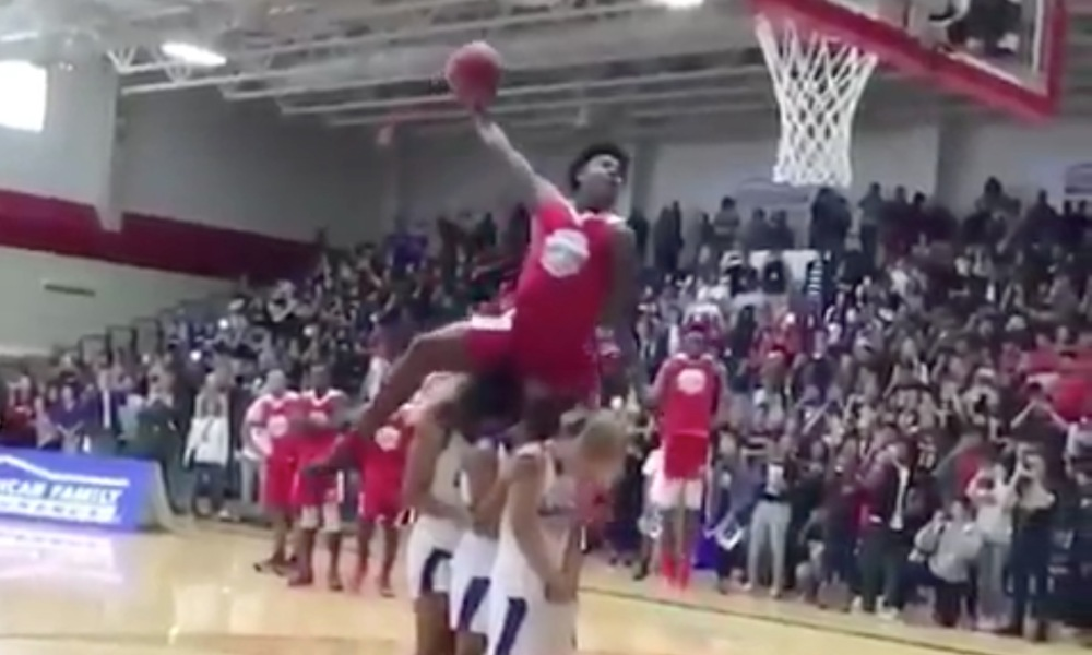 Kevin Porter Jr. at the 2018 High School Slam (Photo: @HighSchoolSlam/Twitter screen shot)