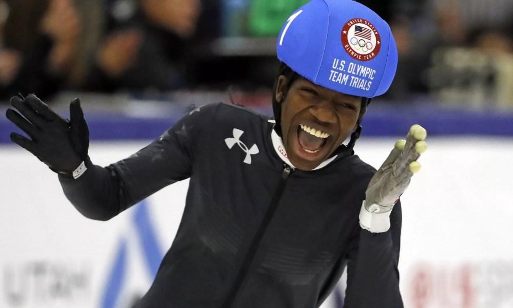 U.S. speed skater Maame Biney (Photo: USA TODAY Sports)