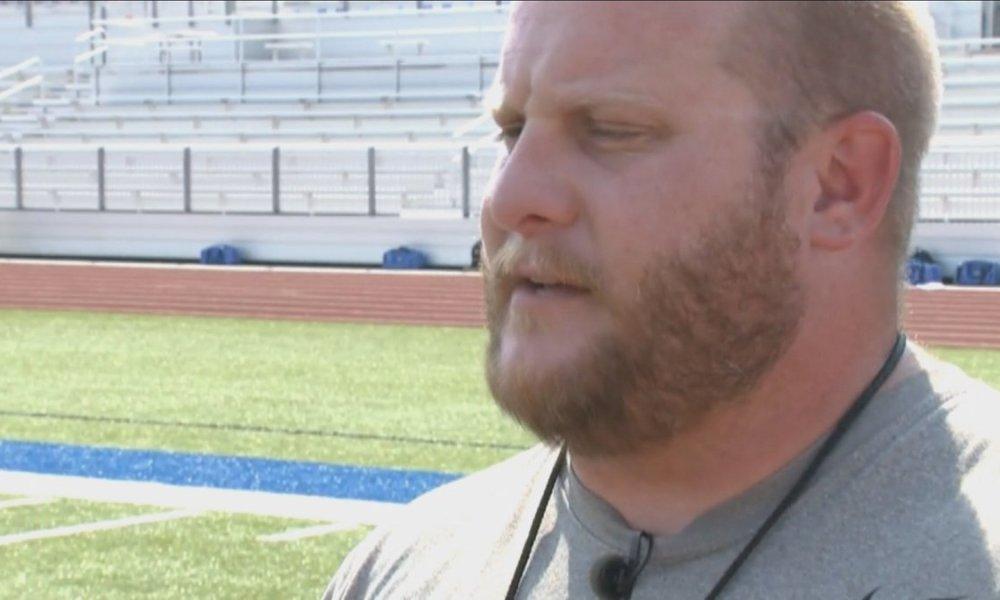 North Little Rock offensive coordinator Blake Pizan (Photo: @HaydenBalgavy/Twitter screen shot)