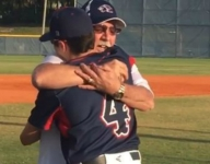 Grandfather throws out first pitch, sees grandson play for first time in emotional reunion