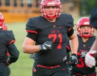 VIDEO: Scott County (Ky.) OL Bryan Hudson commits to Virginia Tech by throwing a discus