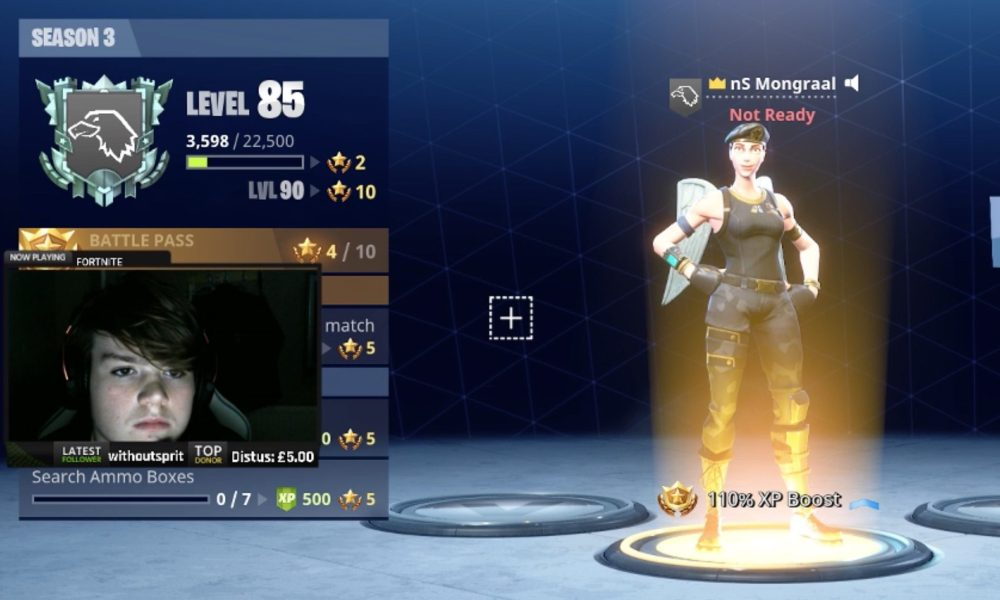 13-year-old Kyle 'Mongraal' Jackson, one of the first-ever professional Fortnite players (Photo: Twitch screen shot/Mongraal)