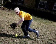 Legally blind boy takes on Little League: I just wanted to use a yellow ball