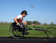 Oregon teen returns to track competition as para-athlete, gives back with laps