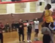 VIDEO: Yale commit Eze Dike-Nwagbara throws down ridiculous windmill while leaping OVER a teammate
