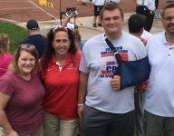 Ohio track coach switches into nurse mode to save thrower at regional meet