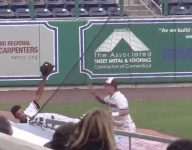 VIDEO: Conn. OF Isaac Rosario flips into stands like Derek Jeter on amazing highlight grab
