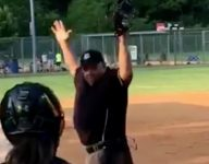 VIDEO: This high school softball umpire doing Y-M-C-A is a summer spirit animal