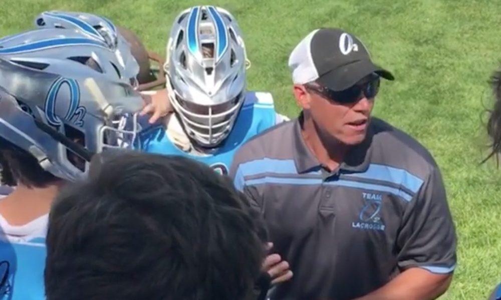 O2 Lacrosse coach Brendan Gorman (Photo: @02Lacrosse/Instagram video screen shot)