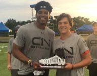 VIDEO: Rising freshman QB Gunner Stockton captures Cam Newton QB Skills Challenge title