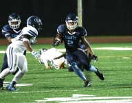 Chosen 25 WR Jadon Haselwood scores game-winning TD with 4 seconds left wearing cleats with five finalist logos